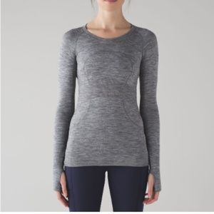Lululemon 12 Swiftly Tech Grey Long Sleeve Crew LS